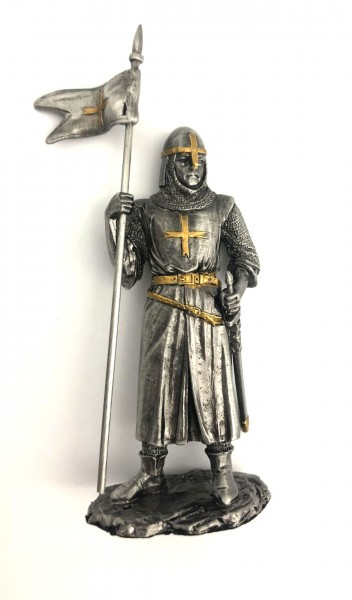 Crusader with sword and flag