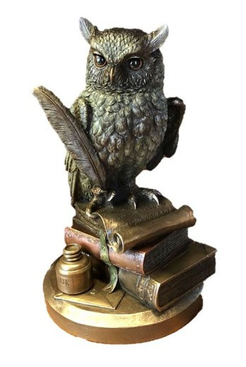 Bronze owl in Books