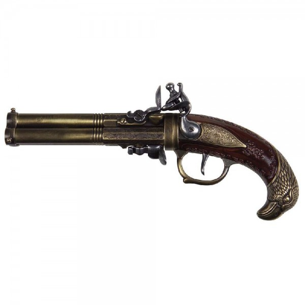 Decorative pistol with eagle head as grip end