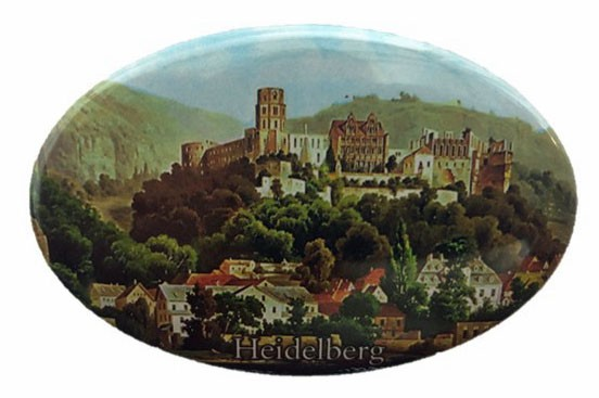 Bottle opener with Heidelberg castle motif