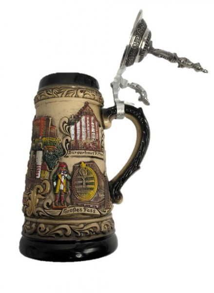 Limited Edition - Beerstein Heidelberg with tin lid - Made in Germany
