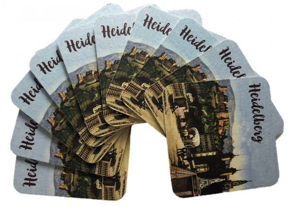 "Beer mats ""Heidelberg"", 10 pieces"