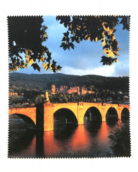 Glasses cleaning cloth with Heidelberg Castle and Old Bridge
